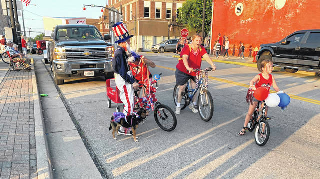 Uncle Sam made an appearance at the Jeffersonville July 4 parade on Thursday.