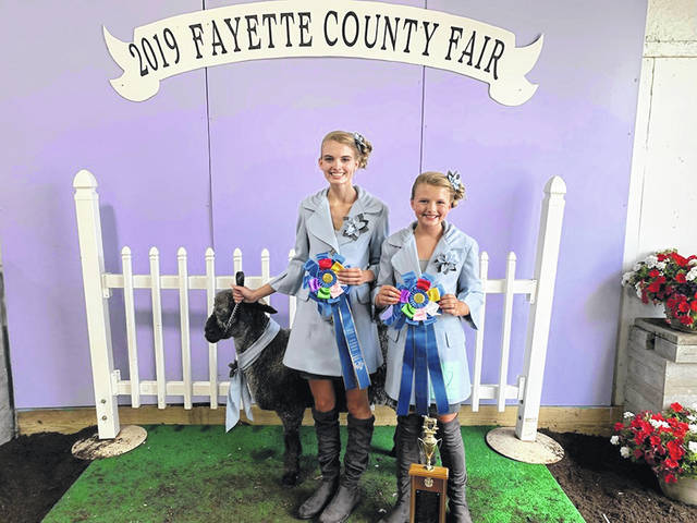Nine class winners were named Monday evening at the 2019 Fayette County Fair Guys & Gals Sheep Lead. The winners of the pairs class were Hidy and Cali Kirkpatrick.