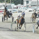Harness racing at the fair Wednesday