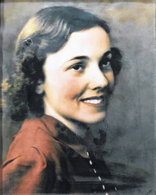 Pictured is Jewell Evans at 17 years old and at a 90th birthday celebration.