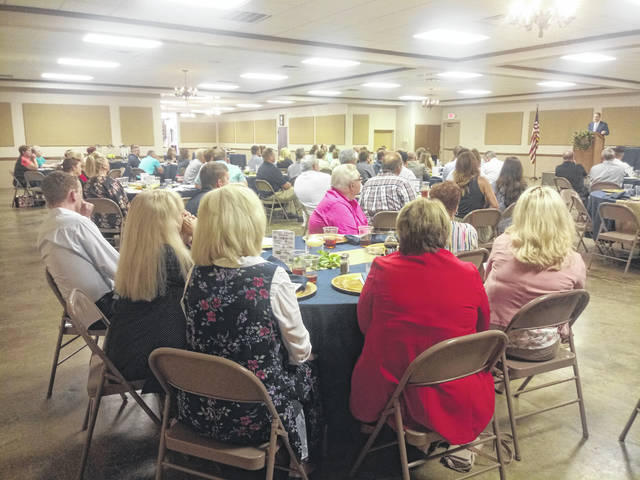 The Chamber of Commerce annual luncheon drew a sizable crowd that included chamber members, sponsors and local business employees.