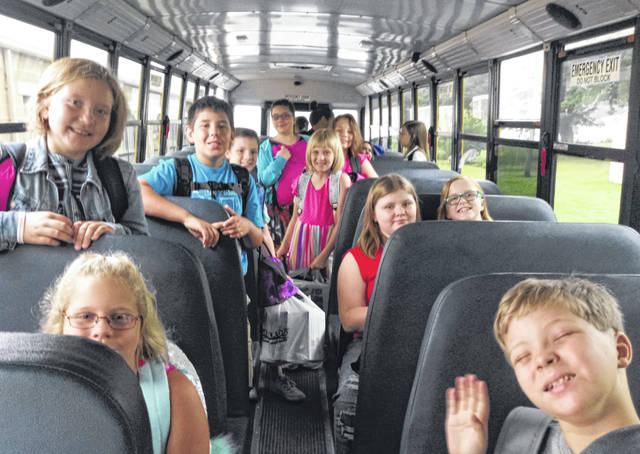 Fourth and fifth graders at Washington Court House City School Belle Aire Intermediate arrived on Wednesday morning for their first day of school. Bus 15's students were ready to go and full of smiles.
