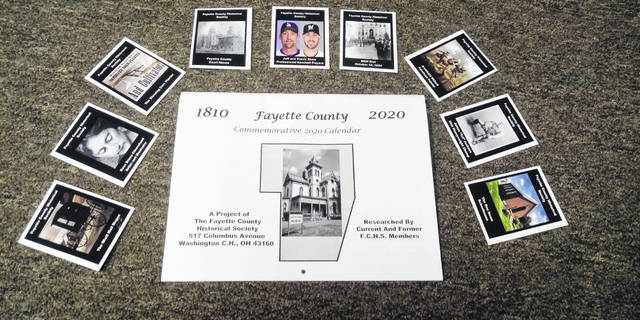 The Fayette County Ohio Historical Society is selling 2020 calendars for $5 and handing out trading cards to those who participated in tours of the Fayette County Museum.