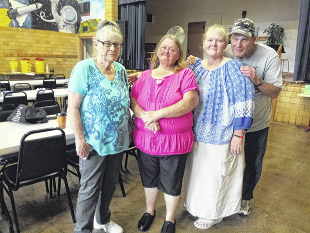 Some of the regular volunteers for The Well at Sunnyside who came in early and helped with various programs included (L-R) Bessie Posey, Nancy Landis, Pam Cottrell and Michael Jackson. The Well at Sunnyside closed its doors at the end of August instead of celebrating its 10-year anniversary.