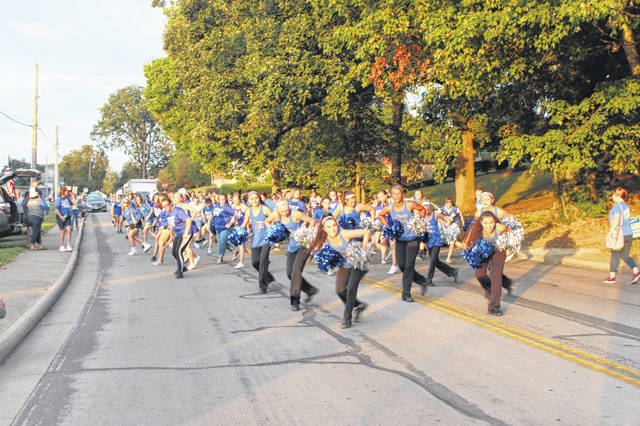 Washington High School held its annual Homecoming Parade on Wednesday evening with many fall student-athletes in attendance. The 2019 Blue Lion Marching Band led the parade with excellent dance moves and a solid beat.