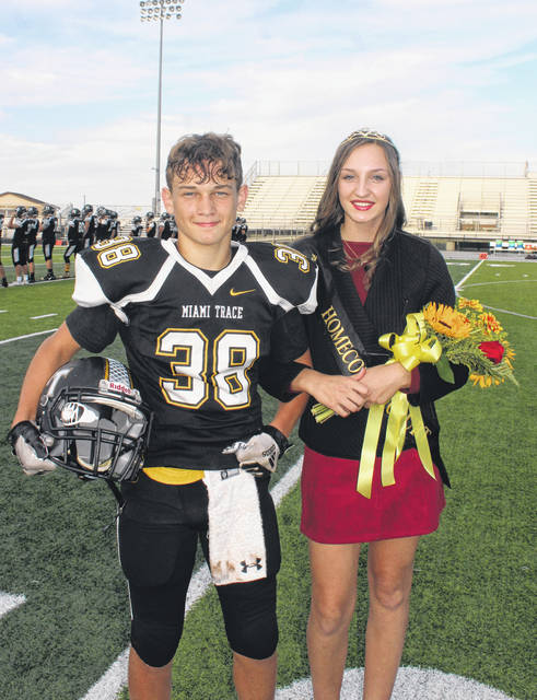 The Miami Trace High School celebrated Homecoming 2019 on Friday evening at the Tony's Welding & Fabrication stadium on the Miami Trace Local Schools campus. The freshman attendants were Dillon Hyer and Gracey Ferguson.
