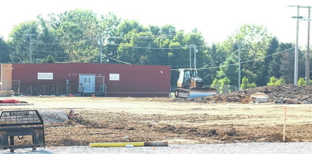 Miami Trace Business Manager Bill Franke shared an update about the building projects on campus with the board of education on Monday evening. Pictured is the lot where the Miami Trace High School used to sit.