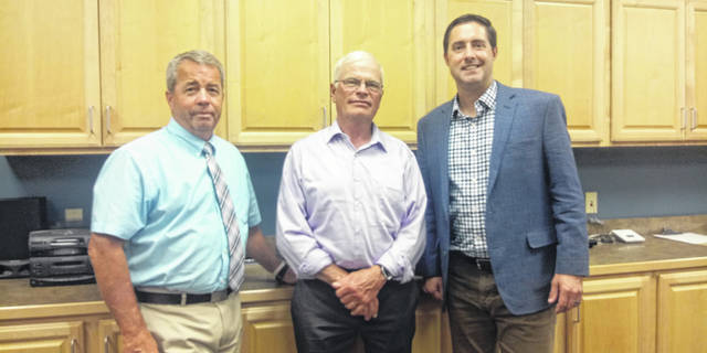 On Monday, the Ohio Secretary of State, Frank LaRose (R), visited the Board of Elections along with Fayette County Commissioners Tony Anderson (L) and Jim Garland (M).