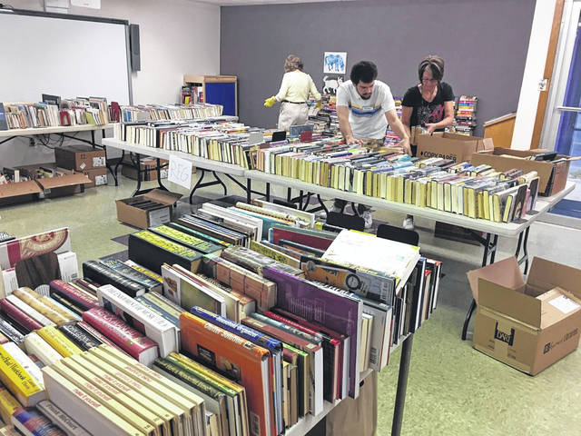 "The Annual Book Sale with AAUW is on! And there are many books for sale. The proceeds help fund scholarships offered by the American Association of University Women and will also become part of the Carnegie Public Library's general fund to be used for building maintenance, collection development and technology. The Book Sale will take place today (Thursday) through Saturday in the library meeting room. Thursday, Sept. 19 and Friday, Sept. 20 the sale (50 cents per book) hours are from 10 a.m. to 6 p.m., and Saturday ""Bargain Day"" ($1 per bag of books) the sale runs from 10 a.m. to 2 p.m."