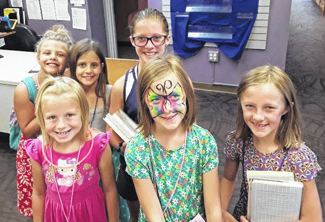 During September, Carnegie Public Library is celebrating its Library Card Sign-up month. A group of young ladies registered for library cards in the same afternoon: (L-R) Reagen, Lindsay, Kennedy, Elyse, Claire and Leah. See more photos inside.