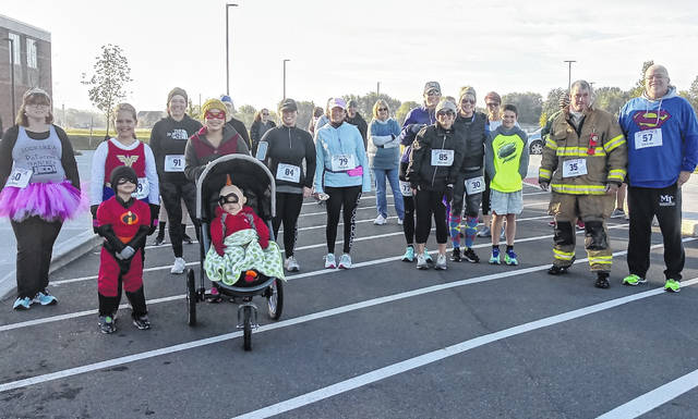 Fayette County Victim Witness sponsored a Superhero 5K for its third-annual event this past Saturday. Although it was chilly, participants came prepared with jackets and hoodies. Lucas King, a sixth grader at Miami Trace, kept a fast pace and came in first. More will be shared about King in a future article.