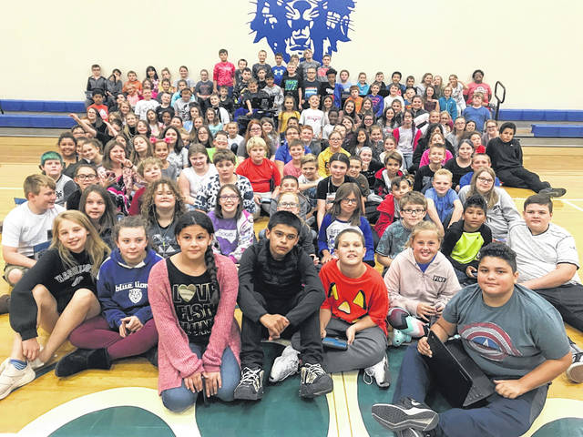 "Washington Court House City School District's Belle Aire Intermediate School celebrated its fifth graders who showed ""Above the Line"" behavior throughout the first nine weeks grading period. Being ""Discipline Driven"" is an integral part of the Blue Lion culture curriculum, and these students have continually exhibited positive behavior since the beginning of the school year. Principal Jeff Conroy said, ""Congratulations to all of these discipline driven students. Continue to lead by example and make a positive difference at Belle Aire."""