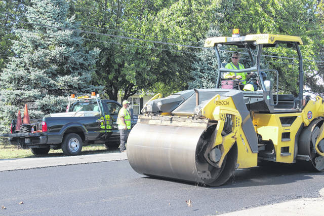 Ohio Department of Transportation crews worked on Highland Avenue on Wednesday as part of a larger project to resurface State Route 41. ODOT Central Ohio Public Information Officer Breanna Badanes said this portion of the project should be completed by November and the north section of St. Rt. 41 within Fayette County will be started and finished next year.