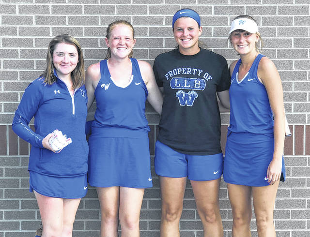Four memebers of the Washington High School tennis team have qualified to next week's District tennis tournament in Athens. (l-r); Payton Maddux, Sydnie Hall, Shawna Conger and Brooklyn Foose.