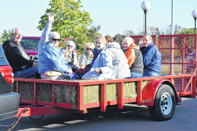 The second-annual historical tour of the Washington Cemetery by hayride took place on Saturday. The tour raised approximately $1,300 which will be given to the Fayette County Historical Society. There were several trucks and tractors taking citizens through the trails.
