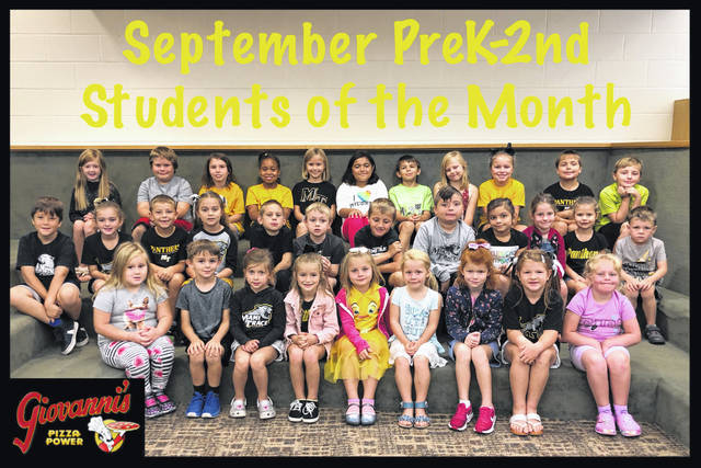 Miami Trace Elementary School announced its students of the month for September recently. The Pre-K through second grade students of the month were (L to R): front row: Kayla Smith Woodson, Sam Smallwood, Lucy Abbott, Abigail Lewis, Carly Farrens, Emma Dill, Avery Craig, Grace Bihl and Annabella Shiltz. Middle row: Isaiah Langley, Jordyn Lawson, Charlie Speakman, Lynnlee Warner, Trenton Womacks, Austin Davis, Bryson Dean, Aiden McKirgan, Addy Sosa, Ryleigh Hall, Grace Armitrout and Micah Waddle. Back row: Addilyn Stanforth, Trenton Brown, Harley Arnold, Asia Baker, Avery Napier, Elianna Galban, Memphis McDaniel, Maddalyn Therrien, Kamri Reno, Tobin Cory and Alex Cogan.