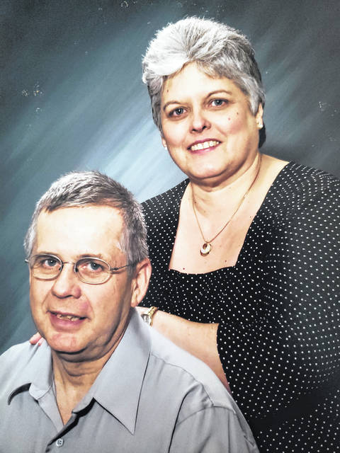 Mike and Debbie (Ruth) Baughn of Washington Court House, will be celebrating their 50th wedding anniversary with a family dinner and a weekend getaway. The couple was married on Nov. 8, 1969 at the South Side Church of Christ with the Rev. Charles Richmond officiating. Mike is a U.S. Army veteran, having served a tour of duty in Vietnam. Following his service in the military, he became a forklift operator for Mead Containers and Calmar. The Baughns are the parents of a daughter, Kimberly Miller, and the proud grandparents of two granddaughters, Macy and Emma Miller.