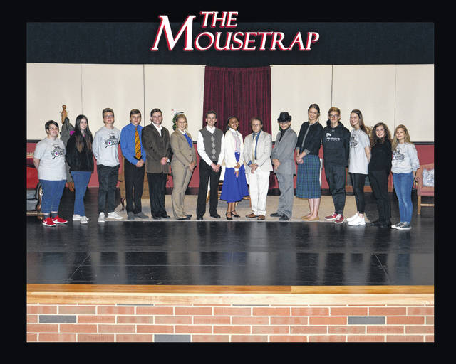 "Members of the cast and crew of the Miami Trace High School encouraged the community to join them for their production of ""The Mousetrap"" on Nov. 22-24 at the Quali-Tee Design Performing Arts Center at the high school. Tickets are $5 each and they will be on sale at the door."
