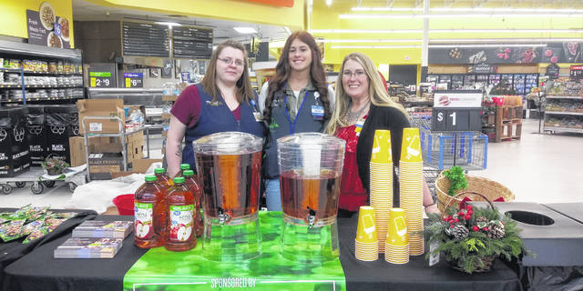 "During the beginning of the ""Black Friday"" sales event at the local Walmart, which started at 6 p.m. on Thursday, staff had free snacks, apple juice and Keurig drinks set up for customers. Along with the free treats were promo codes to stream a free movie on Vudu."