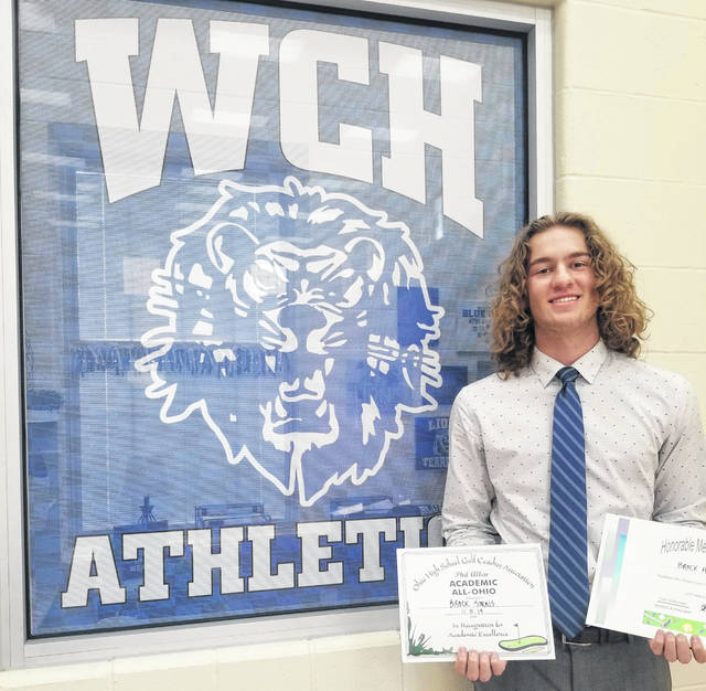 "Washington High School senior Brock Morris, above, was named First Team, All-FAC, Honorable Mention, All-District and Academic All-Ohio for boys golf for 2019. ""Brock really grew as a young man and student-athlete over his four years with Blue Lion Golf,"" Washington head coach Shannon Bartruff said. ""He was a great leader and teammate this year. He deserves all the accolades he's earned and has a bright future ahead."""