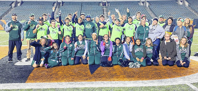 The Fayette County Dragons were once again named the Ohio Special Olympics flag football champions following the championship game against Tuscarawas County Rockets at Paul Brown Stadium, home of the Cincinnati Bengals, over the weekend. The team won by a score of 62-21.