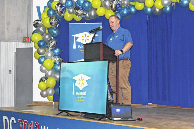 The Walmart Distribution Center (Walmart DC) in Washington Court House became home to Walmart's first Supply Chain Academy in the Midwest. General Manager Adam Becker served as emcee for the event and thanked the members of the crowd for attending.