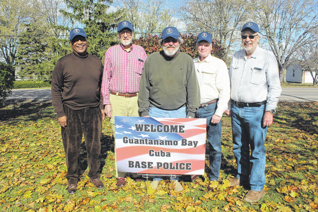 Shipmates (L-R) Timm Cyrus, Bill Dimon, Gordon Pensyl, Jim Shaw and Bill Batson came together on Friday, Nov. 9 in Washington C.H. Not pictured: Walter T. Jezak.