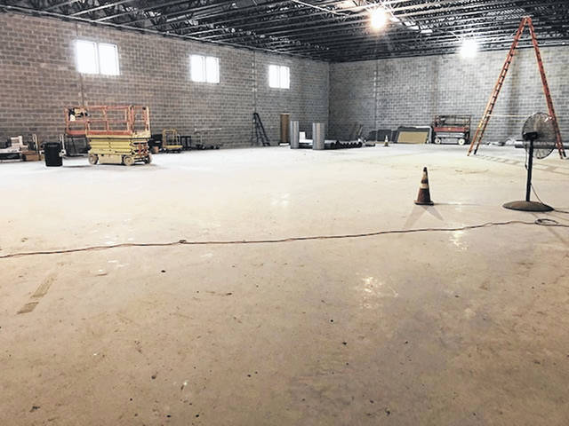 Construction continues on the 13,000 square foot expansion at the Fayette County Family YMCA expected to open in early 2020. The fieldhouse will include a batting cage with a baseball/softball pitching machine and turf flooring surface.