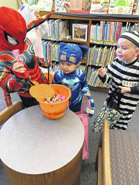 The participants were able to go around the library gathering treats and playing musical instruments.