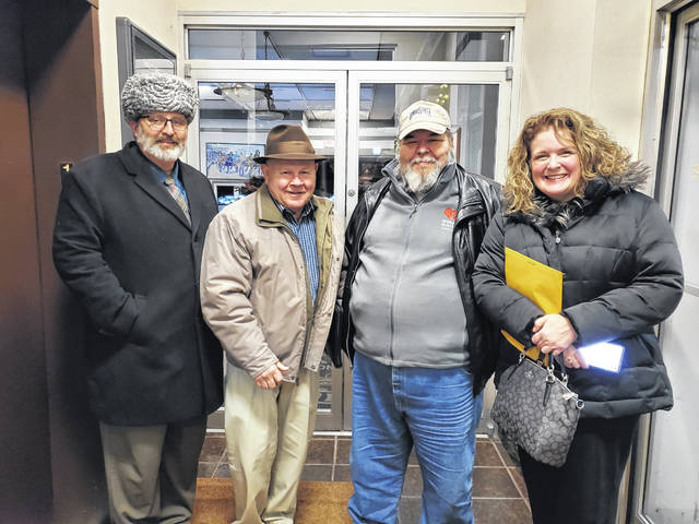 Harry Wright attended his last Washington Court House City Council meeting on Dec. 11 as a representative for WCHO. Pictured (L-R) is City Manager Joe Denen, council member Jim Chrisman, Harry Wright and council member Kendra Redd-Hernandez.