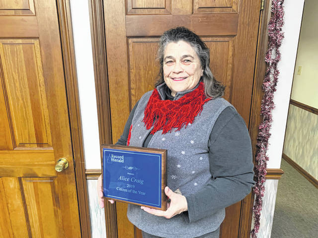 Alice Craig was named the 2019 Record-Herald Citizen of the Year.