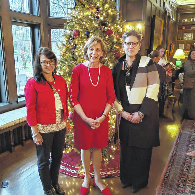 Debbie Bryant (left), the president of United Way of Fayette County, along with Anne Quinn (right), children's department at Washington C.H. Carnegie Library, joined the Ohio Governor and First Lady for Ohio Governor's Imagination Library Program Workshop.