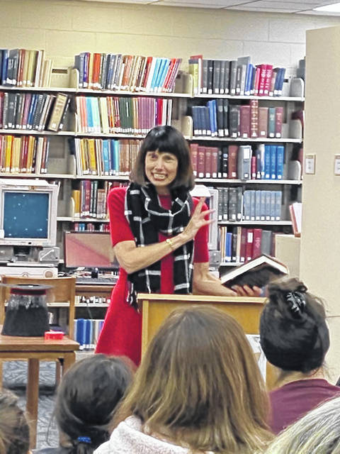 Margaret shared insights with a crowd of 50-plus people on what it's like to be an author, how she decides what to write as well as the importance of books and libraries.