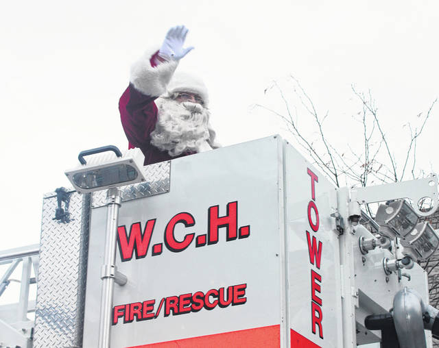 Santa Claus made a welcome appearence at the Christmas Parade Sunday, Dec. 1, 2019.