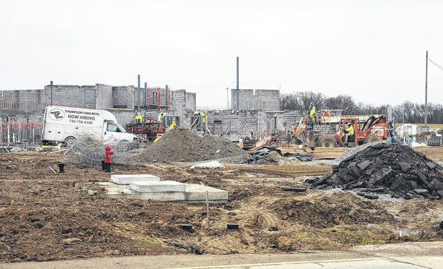 The construction of the new Fayette County Adult Detention Facility off Robinson Road is ongoing.