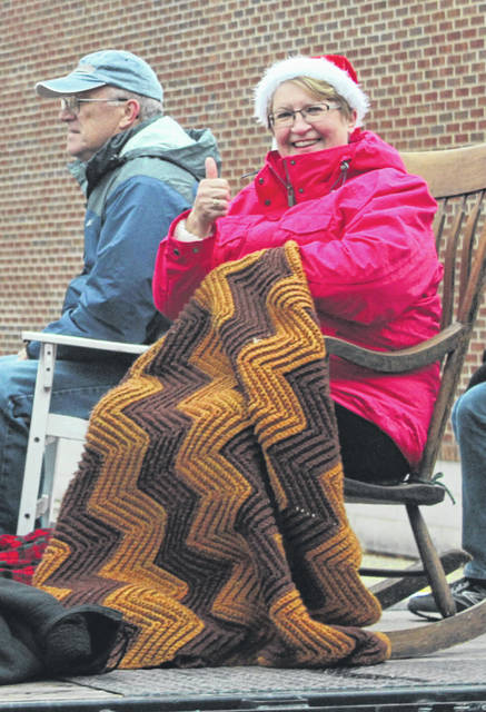 Many Fayette County residents were feeling festive and joined for the annual 2019 Christmas Parade. In this Record-Herald file photo, one of the participants in the parade gave a warm thumbs-up on a cold Dec. 1.