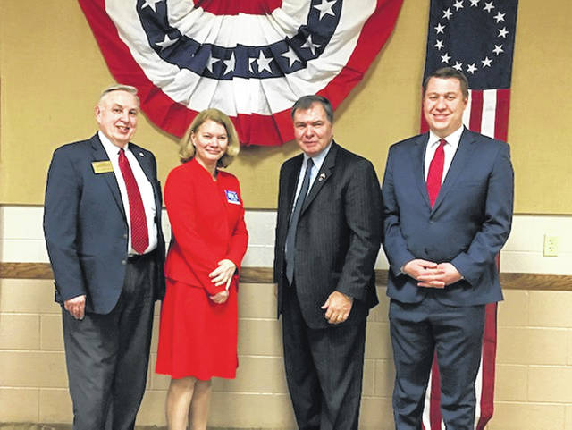 From left to right, Noah Powers, Mary Lynne Birck, Bill Coley and Matthew Byrne.