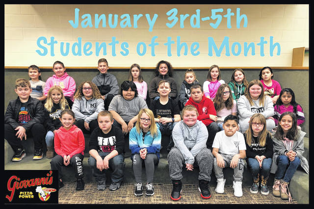 The third through fifth grade students of the month were (L to R): front row: Molly Wilt, Caden Clifton, Jordyn Stevens, Xander Cummings, Isaiah Sanchez Dominguez, Zackayla Rowland and Hadleigh Ratliff. Middle row: Tommy Garrison, Jordan Blanton, Josilin Steele, Isaac Smith-Lopez, Landen Anders, Shane Skeeters, Baili Chambers, Molly Whiteside and Suraimi Mendez Hernandez. Back row: Anthony Shipley, Alexis May, Anthony Huffer, Mercedes Keller, Ebony Pierce, Cali Connel, Avery Leisure, Cadence Cooper and Karinna Hoover. Not pictured: Lucas Shepard, Colby Therrien, Bently Ervin, Delaney Farley, Leanna Marshall, Chloey Smith, Holden Webster, Bryce Neel and Ben Sturgell.
