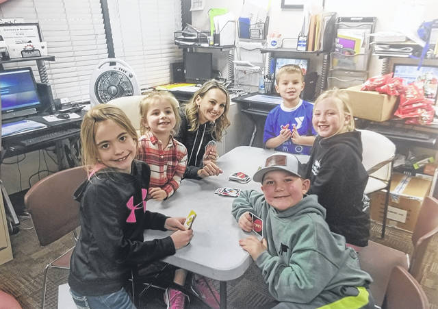 Pictured (L to R) are All-N-One Cloverbuds members: Molly Payton, Christina Cook, Clint Wilt, Sara Kirkpatrick, Lani Dawes and Michael Cook. Absent were Brantley Collins, Mason Collins and Ian Wood.