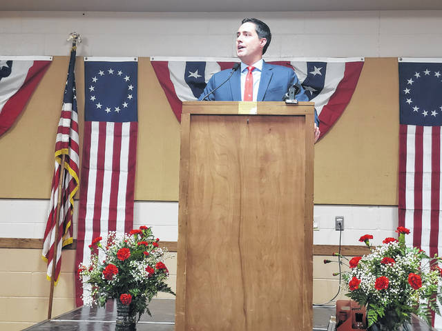 On Monday night, Ohio's 51st Secretary of State, Frank LaRose, visited Fayette County to be the featured speaker at the Fayette County Republicans' Lincoln Day dinner.