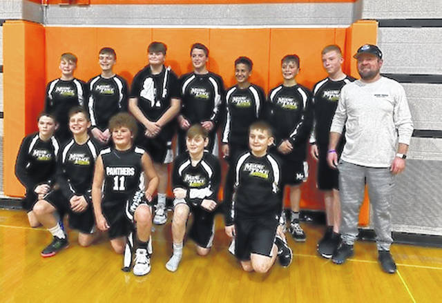 The Miami Trace 6th grade boys basketball team recently completed the 2019-20 season with an 11-0 record in the Tri-County League, finishing as champs. (front, l-r); Lucas King, Jackson Miller, Luke Armstrong, Matthew Foody, Blake Boedecker; (back, l-r); Cooper Enochs, Connor Napier, Adam Guthrie, Cade Whitaker, Ian Rayburn, Grant Guess, Westyn Dawes and Coach Jeff Smallwood.