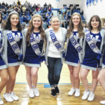 Blue Lion senior cheerleaders recognized