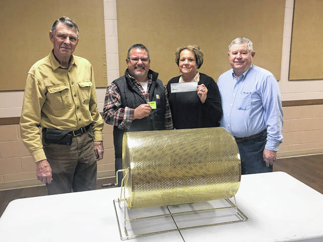 Andy Fitzpatrick (Precision Ag) was the winner of the $10,000 raffle Sponsored by the Fayette County Agricultural Society Feb. 15 at the Valentine's Day Dance. The Smokin' Ham Band members did the honor of drawing Fitzpatrick's name at the Valentine Dance at the Mahan Building. Pictured left to right are Wayne Arnold, director, Fitzpatrick, Faith Cottrill, Doug Marine secretary, and Robert Schwartz, president of the Ag Society. The Ag Society would like to thank everyone for their participation for this event. Thank you to sponsors: Barker's Towing and Tire Service, First State Bank, Herron Financial Group, Amore' Pizza, 3-C Cab, Collins Septic, Midland Acres, The Print Shop, Nutrien.