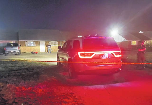While a homicide investigation was underway at an apartment on Joanne Drive on Monday evening, Fayette County Sheriff's Office deputies kept the scene secure.