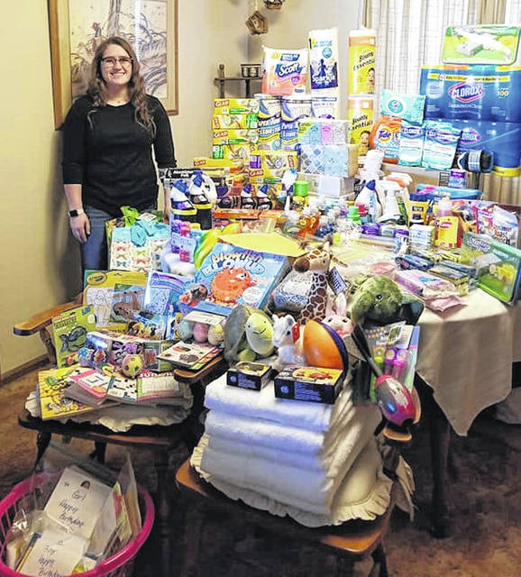 Aubrey Schwartz is a Miami Trace High School senior who recently turned 18. For her birthday, she collected and then donated $400 worth of items and a large bag of pull tabs to the Ronald McDonald House (RMH).