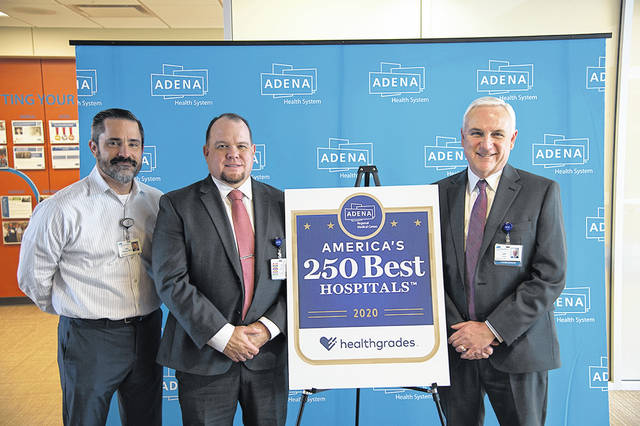 From left to right, Adena Chief Clinical Officer Dr. Kirk Tucker, Vice President of Quality and Safety Rhett Holland and President and CEO Jeff Graham.