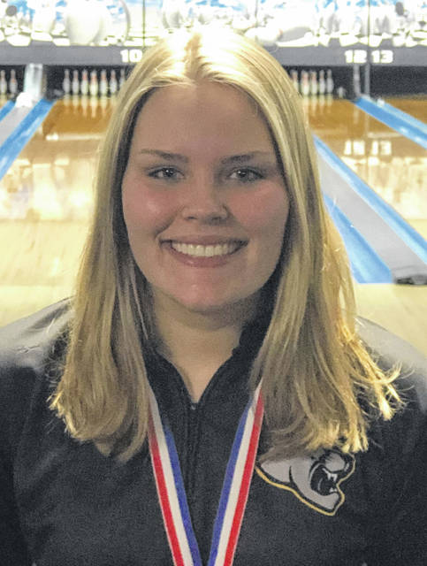 Gabby McCord, Miami Trace junior, is making her second trip to the State bowling tournament after winning the Division I District tournament Monday, March 2. McCord bowls Saturday morning in Columbus.