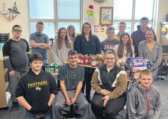 The Miami Trace Key Club led a food drive for the annual Dwight Turner Spaghetti Dinner.