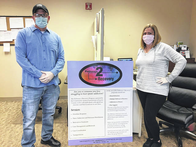 Joe Cantrell (left) and Brooke Truman (right) are Pathways to Recovery Peer Support Specialists.