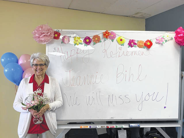 Health Educator Jeannie Bihl, RN — who has worked with Fayette County Public Health since 2004 — retired Wednesday. The organization took time to thank Bihl publicly for her work and wished her well on retirement.